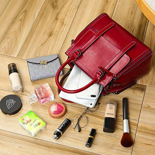 In Delle Rossa Spalla Rosso Messaggero Del Alta Donne Moda Borse Borsa Portatile Della Pelle Femminile Di Onda Capacità 5qHYgSHx