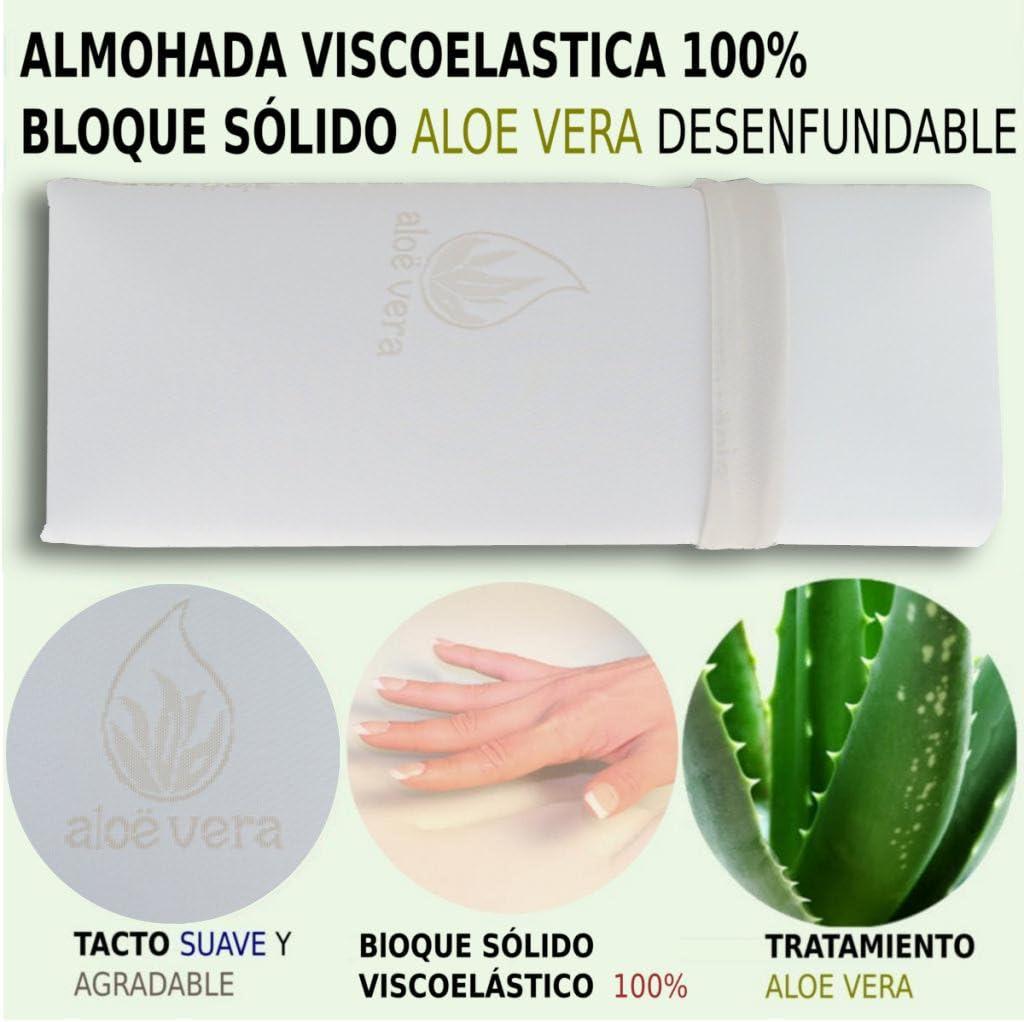 HOGAR24 Pack de 2 Almohadas viscolastica viscoelastica 100% Bloque ...