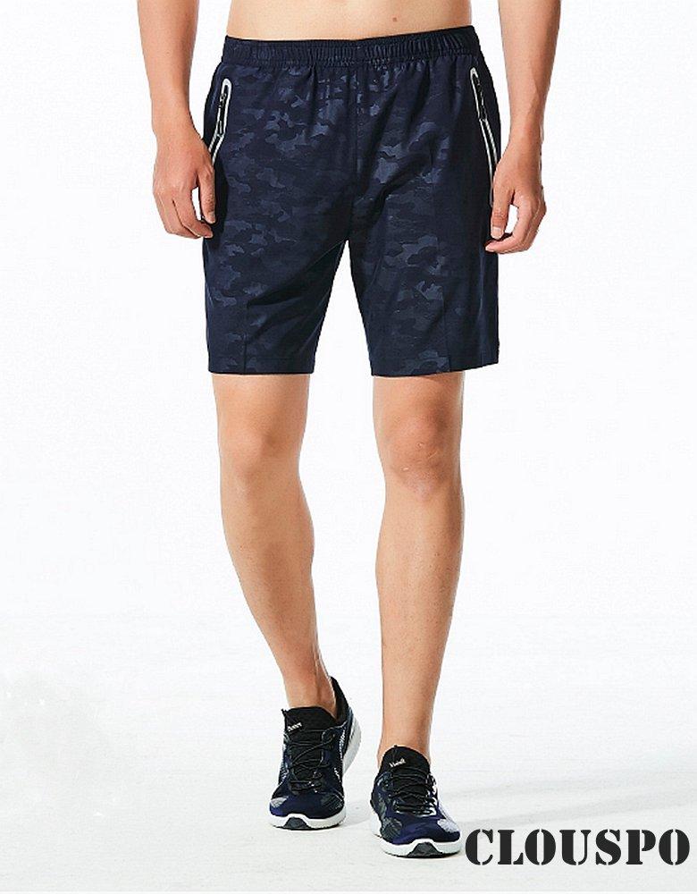 CLOUSPO Sporthose kurz Herren schnell trockend mit Rei/ßverschlusstasche Jogginghose kurz Trainingsshorts Verpackung//MEHRWEG