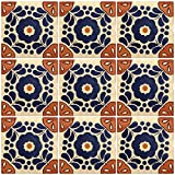 Ceramic Talavera Mexican Tile 4x4'', 9 Pieces (NOT Stickers) A1 Export Quality! - EX25