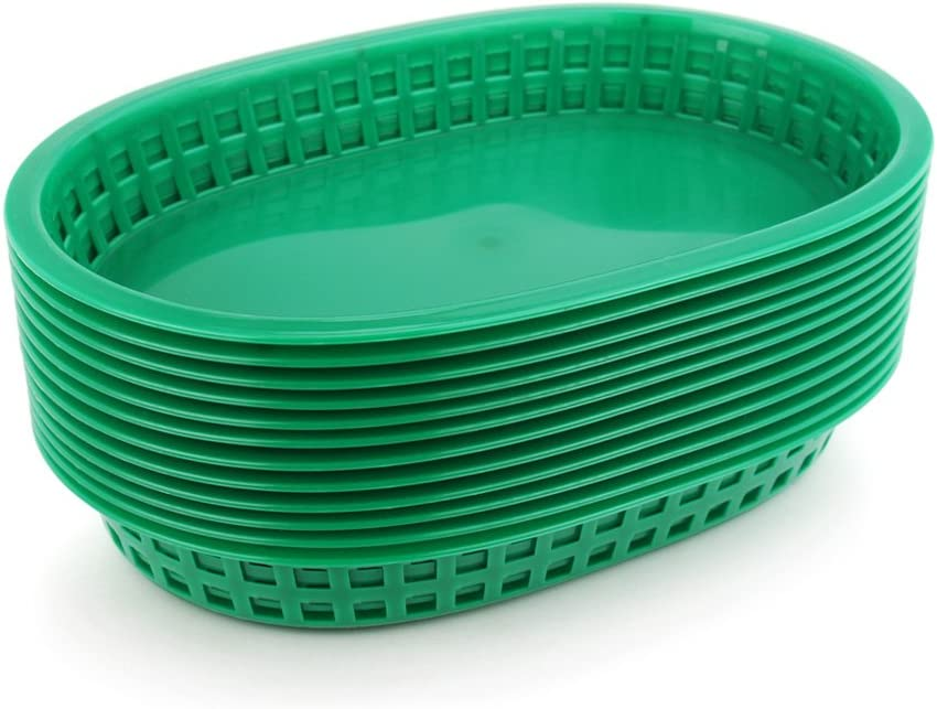 New Star Foodservice 44034 Fast Food Baskets, 10.5 x 7 Inch, Set of 36, Green