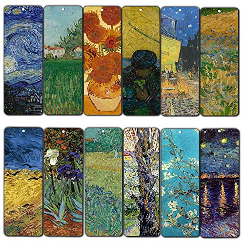 - Loving Vincent Van Gogh Inspiring Quotes Bookmarker Cards (30-Pack) - Cool Book Classical Painting Art Print Decal - Stocking Stuffers Gifts for Men Women Teens Thanksgiving Christmas