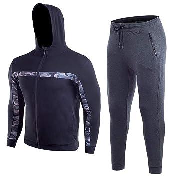 LuckyGirls Sudaderas Chaquetas Deportivas con Capucha + Pantalones Conjuntos para Hombre Casual Deportes Chándal 2Pcs: Amazon.es: Deportes y aire libre