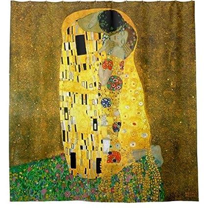 Showcas1e The Kiss Gustav Klimt Shower Curtain Polyester