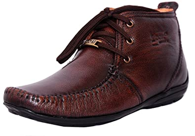 648dd0e89b9ed3 Zoom Men's Pure Leather Formal Shoes D-3181-Brown: Buy Online at Low ...