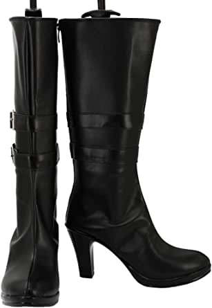 GOTEDDY Blake Halloween Cosplay Booties Black Short Boots Women Costume Shoes