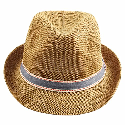 34b65dc9fa332c Samtree Fedora Hats for Women Men,Beathable Straw Panama Trilby Hat(Khaki)  - Buy Online in Oman.   Apparel Products in Oman - See Prices, Reviews and  Free ...