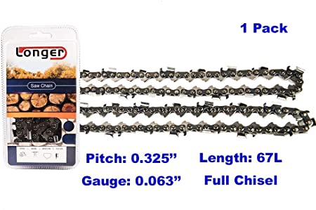 """STIHL CHAINSAW 16/"""" OREGON GUIDE BAR AND CHAIN 67 LINK 325 PITCH FITS MS260 MS261"""