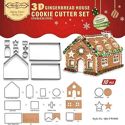 Queta - Molde para Galletas de Navidad, diseño de Pan de Jengibre en 3D,
