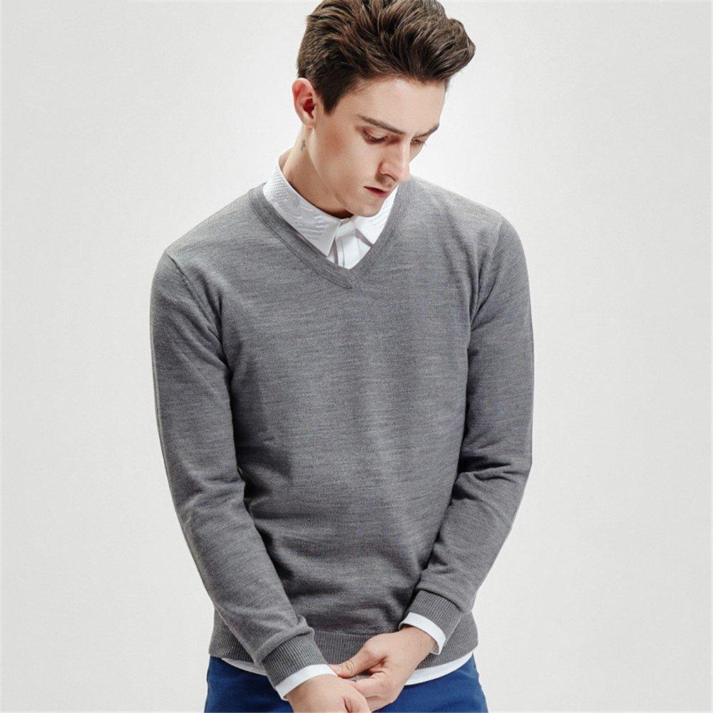 Jdfosvm männer aus Pullover, grauen männer Pullover, v - Kragen - Pullover, männer aus Pullover,Grau,XXL