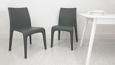 Sedie In Ecopelle Colorate.Bianco Ecopelle Argenta Sedia Da Pranzo In Pelle Sintetica