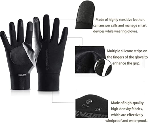 Winter Waterproof Men/'s Women Warm Touch Work Gloves Sports Ski Cycling Bike HGS