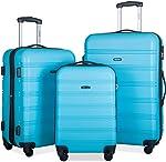 Merax Expandable Luggage Sets with TSA Locks, 3 Piece Lightweight Spinner