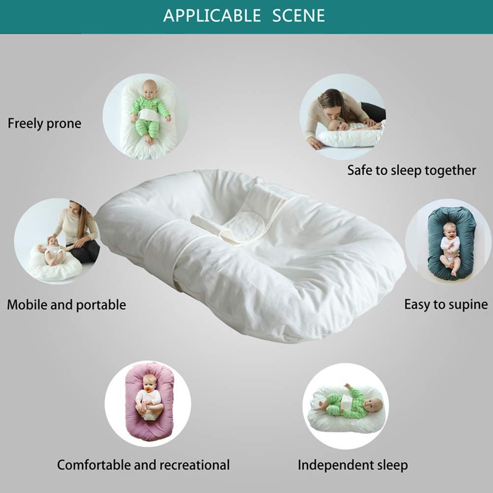 Geeignet f/ür 0-12 Monate faltbare Neugeborenen Baby Reisebett Baby Schlaf Bett Kinderbett Tragbare Baby Nest Reiner Baumwolle Bionic Bett