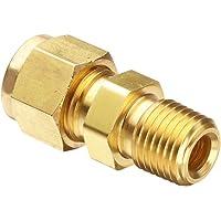 Parker Hannifin 68CA-12-12 Brass Male Connector Compress-Align Fitting 3//4 Compression Tube x 3//4 Male Thread