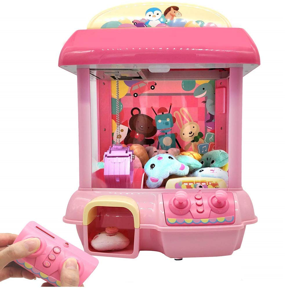 ForBEST Claw Machine Doll Machine with Removable Remote Control, USB Cable, 6 Dolls, Adjustable Sounds and Lights, Best Gift Toy for Kids (Pink) by For BEST (Image #2)
