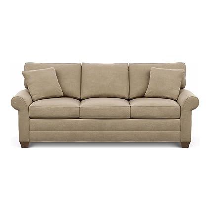 Ethan Allen Bennett Roll Arm Sofa, 86u0026quot; Sofa, Palmer Oyster Chenille  Fabric