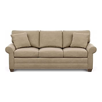 Ethan Allen Bennett Roll Arm Sofa  Quick Ship 86 quot Palmer Oyster Amazon com
