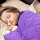 """MAXTID Toddler Weighted Blanket 3lbs 36""""x48"""" Violet Heavy Blanket for Sleeping Purple Child Comfort Sensory Blankets for Girl"""