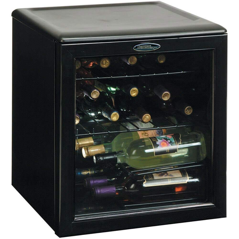 Danby DWC172BL 1.8-Cu.Ft. 17-Bottle Counter-Top Wine Cooler, Black by Danby
