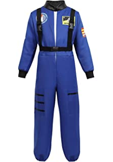 Haorugut Astronaut Costume for Kids Space Suit Role Play Dress up Costume