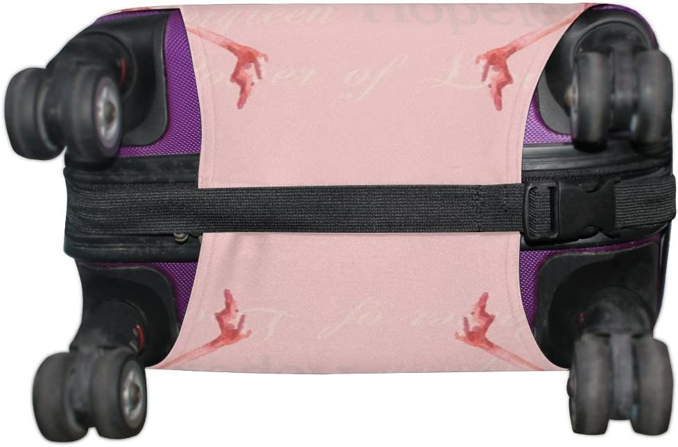 LEISISI Pink Swans Protector Cover Elastic Suitcase Cover Luggage Cover Protector M 23-26 inch