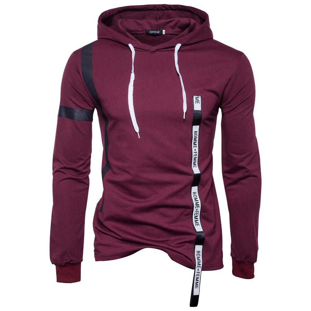 MEI&S Herren Langarm Tops Casual Sweatshirt Pullover Hoodies Bluse