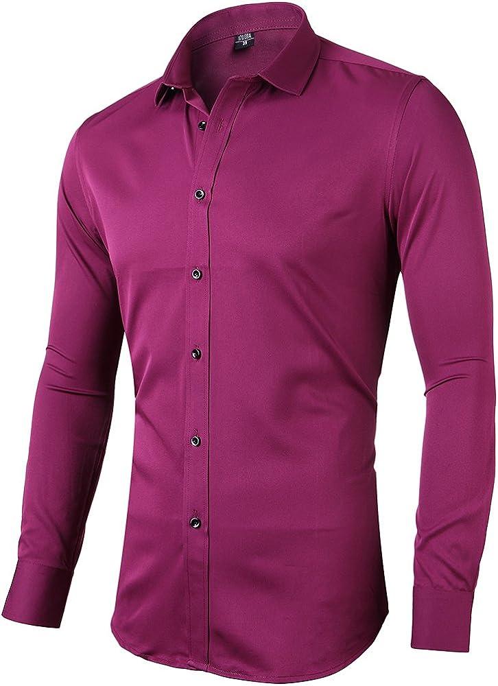 Blusa Elastica e Formale Harrms Camicia Donna Fibra di bamb/ù Slim Fit Manica Lunga