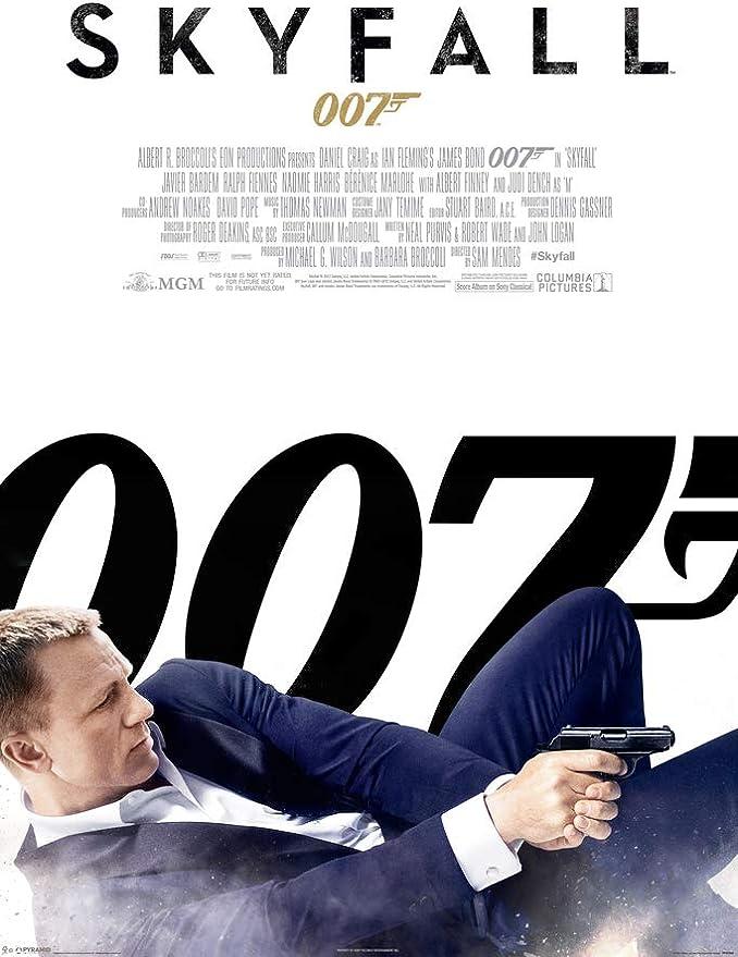 James Bond 50th Anniversary UNCUT PRESS SHEET of Skyfall Poster Set SF1 SF4