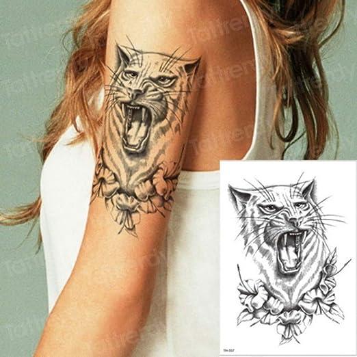 adgkitb Juego de 3 Piezas de Hoja y pequeño Tatuaje de Rugido de ...