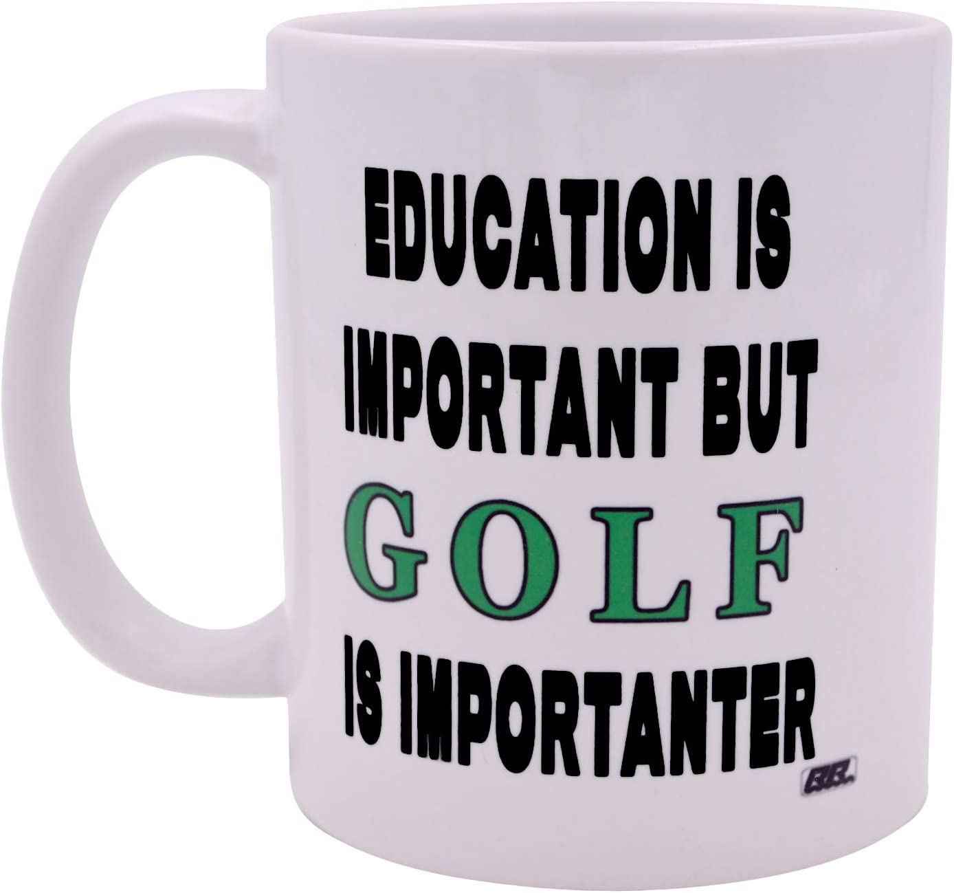 Best Funny Golf Coffee Mug Education is Important But Golf is Importanter Novelty Cup Joke Great Gag Gift Idea For Office Work Adult Humor Employee Boss Golfers
