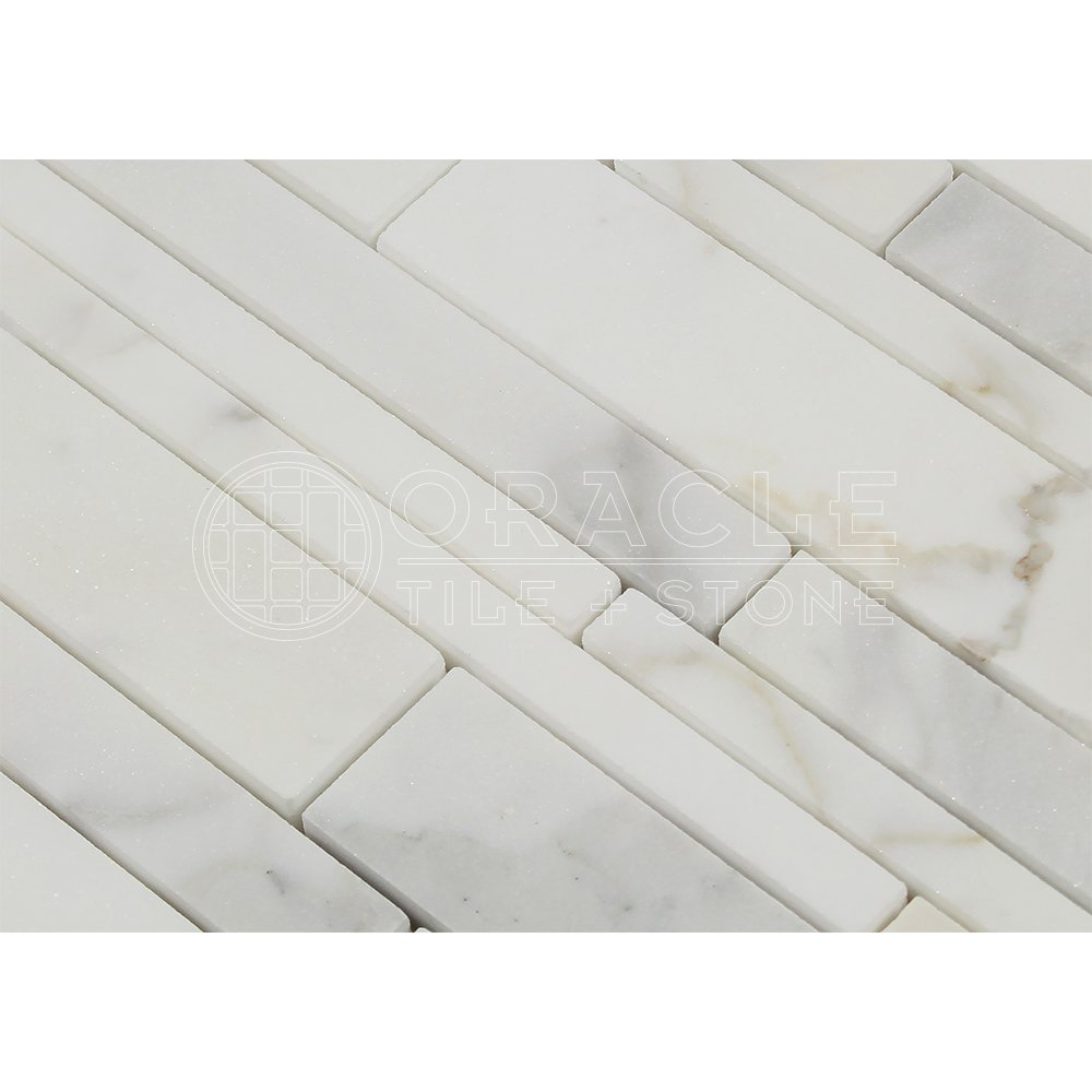 Calacatta gold italian calcutta marble random strip mosaic tile calacatta gold italian calcutta marble random strip mosaic tile polished amazon dailygadgetfo Images