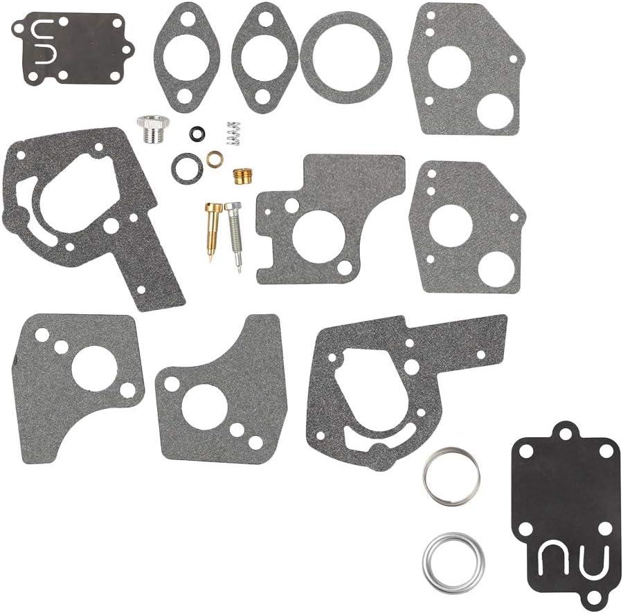 Wellsking 495606 494624 Carburetor Overhaul Repair Rebuild Kit with Gasket for BS Pulsa Jet Carb 80200 81200 82200 3 Thru 5 HP Horizontal Engines
