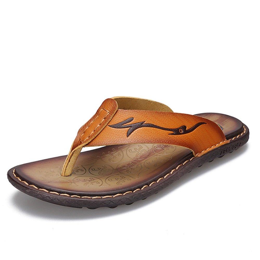 Wangcui - Sandalias de Vestir de Papel para Hombre 41.5|Amarillo