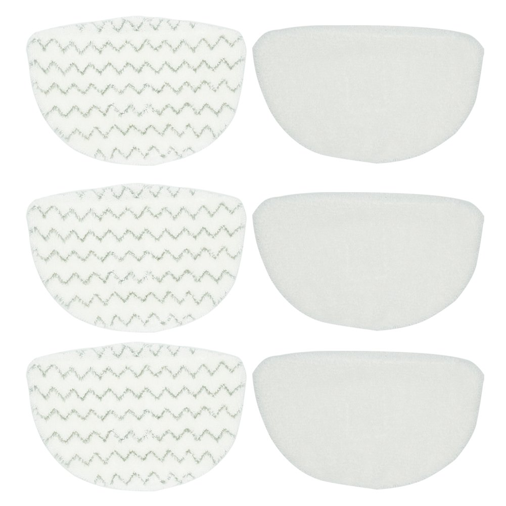 BettaWell Steam Microfiber Mop Refill Pads Compatible with Bissell Powerfresh 1940 Series Fits BGST1566, 19404, B0017, 1940A, 1940Q, 1940T, 1940W, 19402, 19408, 5938 (Pack of 6) by BettaWell