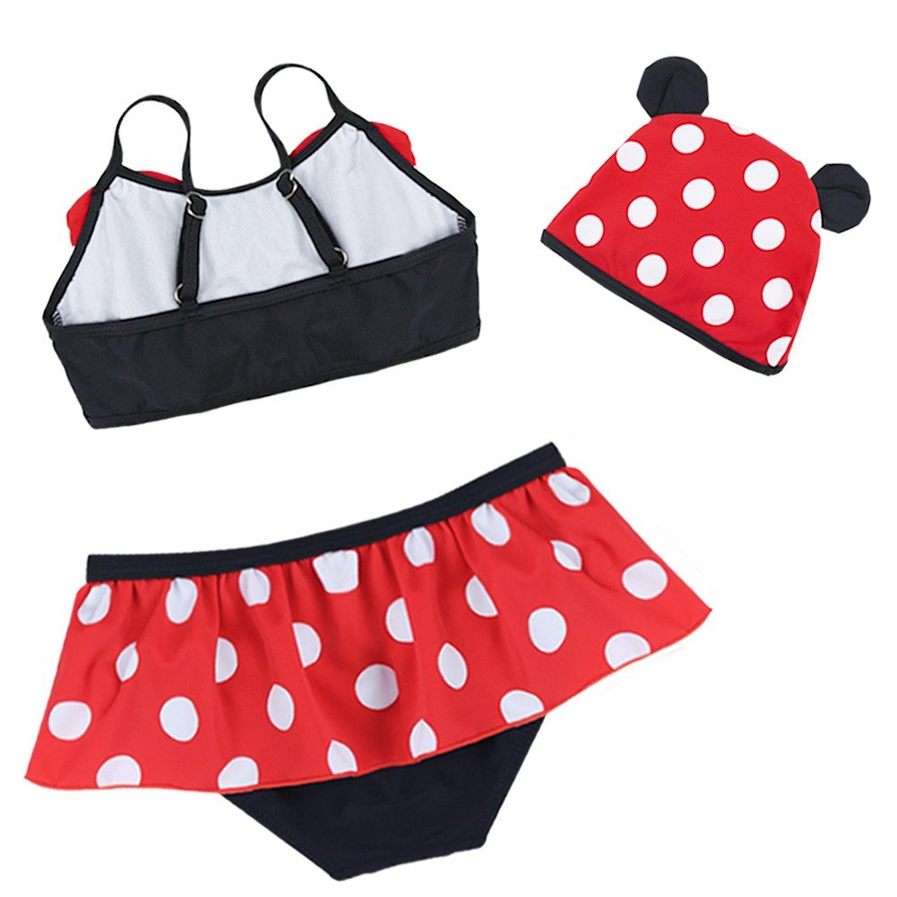 Yizyif 3pcs Toddler Baby Girls Kid Swimwear Bikini Skirts Tankini