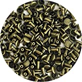 Springfield Leather Company's Antique Brass Small Double Cap Rivets 100pk