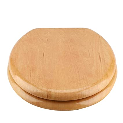 Pleasant Robtle Round Wood Toilet Seat Anti Microbial Toilet Seat Natural Solid Oak Veneer Toilet Seat With Chrome Hinges Home Bathroom Use Decor Forskolin Free Trial Chair Design Images Forskolin Free Trialorg