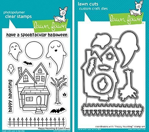 Lawn Fawn Happy Haunting Clear Stamp and Die
