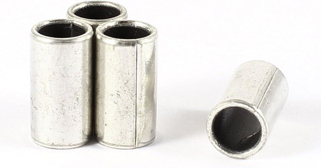 Uxcell 4 x 12mm Length x 14mm OD x 12mm Bore Silver Tone Plain Sleeve Bearing