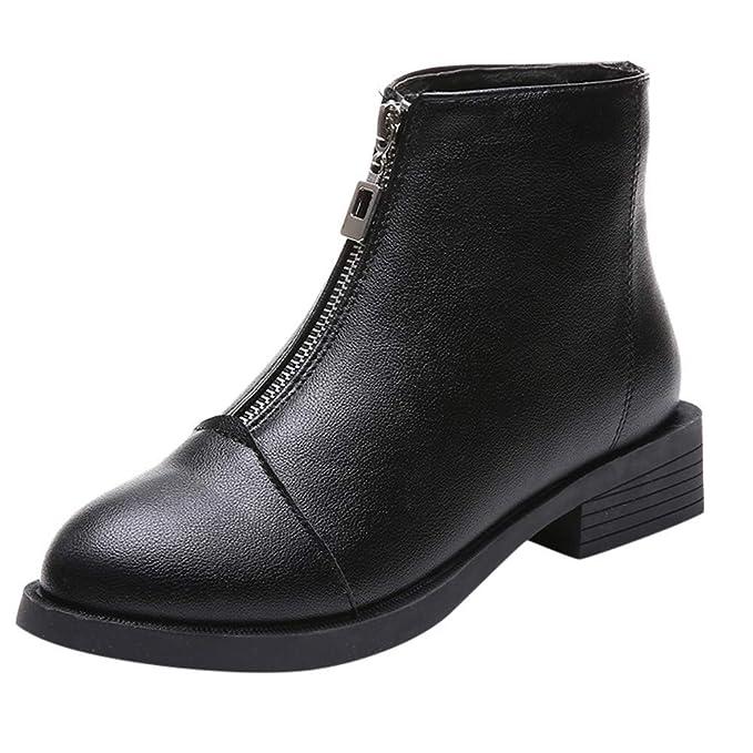 Pelle Single ragazza Stivali Donna Scarpa Shoes Cerniera Bazhahei UMqVGjLpzS
