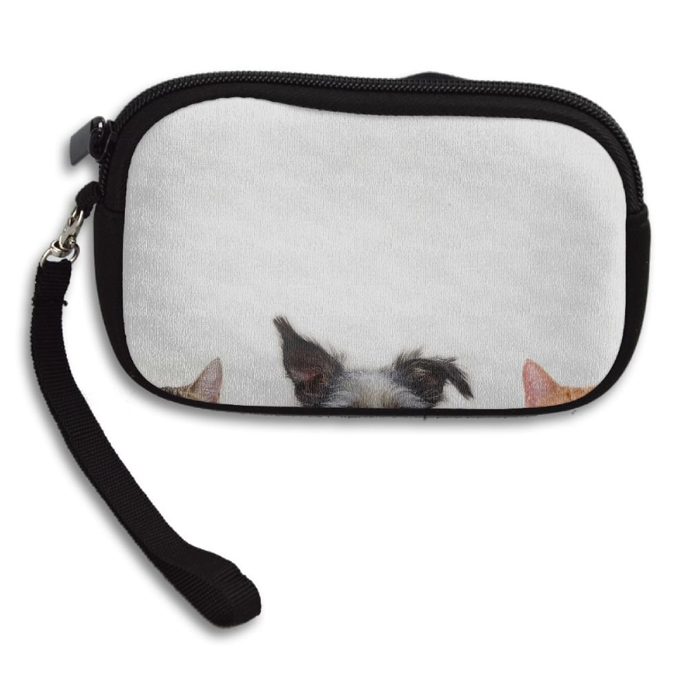 Cat And Dog Deluxe Printing Small Purse Portable Receiving Bag