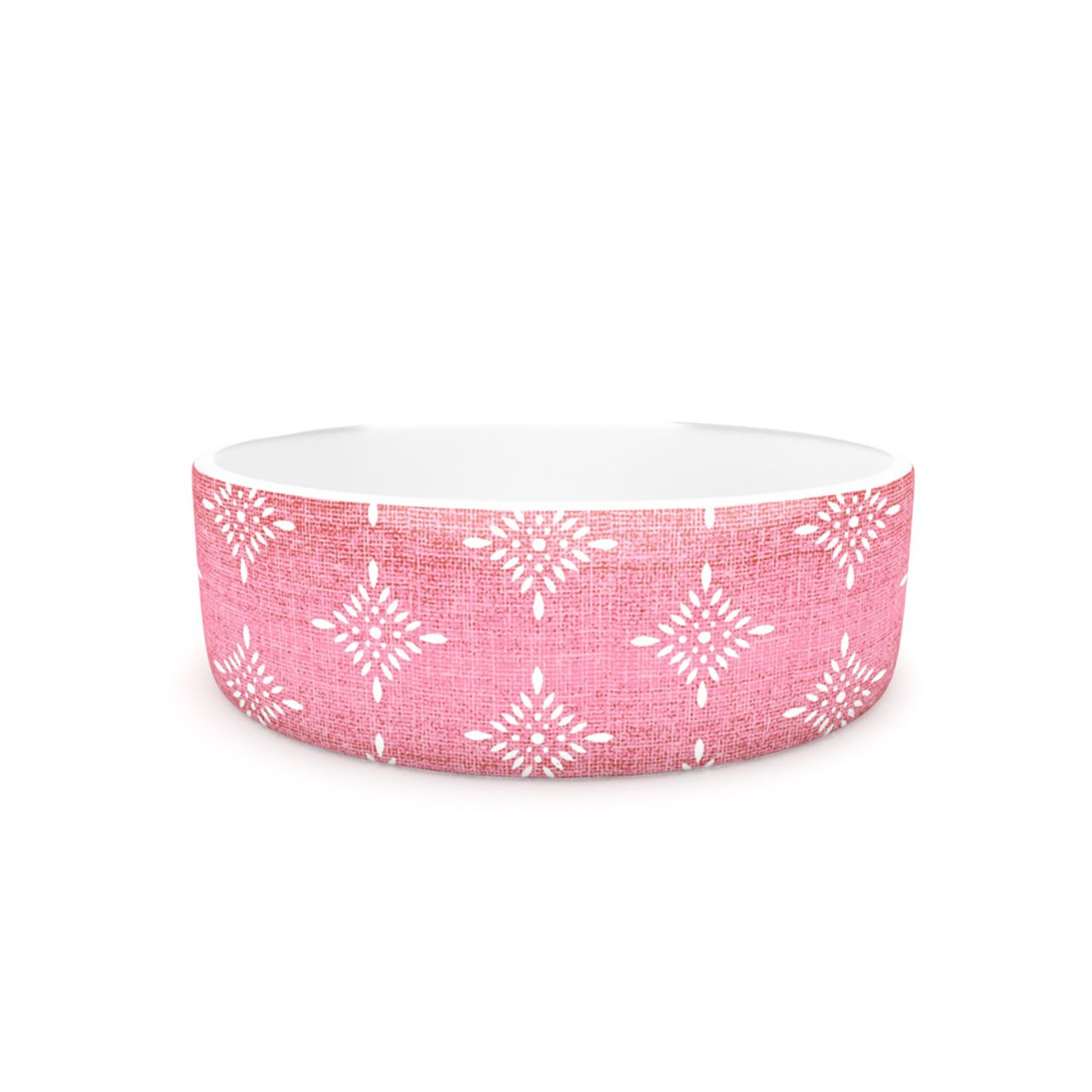 Kess InHouse Suzie Tremel Medallion Red Ombre  Pet Bowl, 7-Inch, Pink
