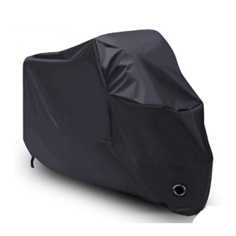 Yizhet Telo Coprimoto Impermeabile in 190D Oxford Tessuto Scooter Moto Copri Copertura Premium Antistrappo Impermeabile Protezione Dalla Pioggia Sole e Polvere per Copri Scooter Moto Nero