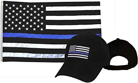 Wholesale Combo 3x5 USA Thin Red Line American Flag /& Adjustable Hat Cap