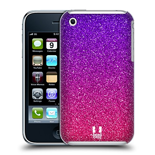 Head Case Designs Ombre Glitter Trend Mix Protective Snap-on Hard Back Case Cover for Apple iPhone 3G 3GS