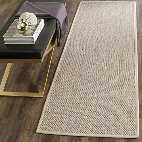 Safavieh Natural Fiber Collection NF143C Marble and Beige Sisal Runner (2'6