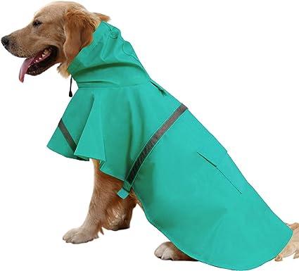 FAMI Small Dog /& Cat Raincoat Pet Waterproof Clothes Lightweight Rain Jacket Poncho Hoodies-Blue