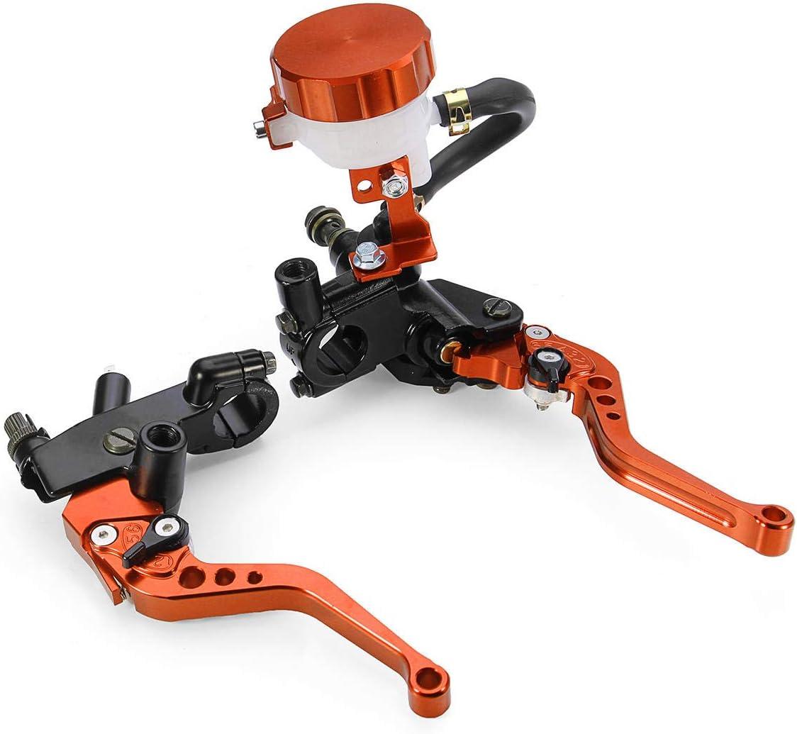 PeroFors 7//8Inch Moto Universale Freno Anteriore Leva Frizione Pompa Serbatoio-Arancione
