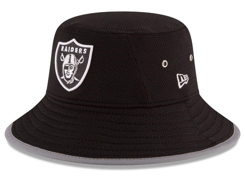 New Era Raiders Player Bucket Hat Cap 100% Authentic, NWT, Black
